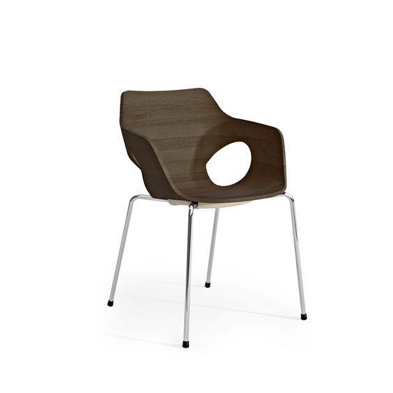 Design Holzschalenstuhl OLE 3D