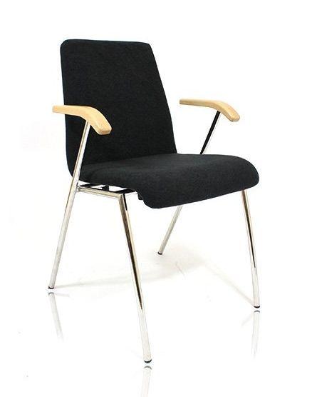 Holzschalenstuhl DECO Stapelstuhl mit Armlehnen