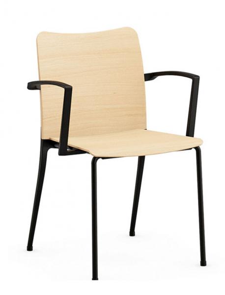 Holzstuhl Solo Reihen- Saalbestuhlung